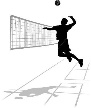 320x380 Volleyball Player Clipart