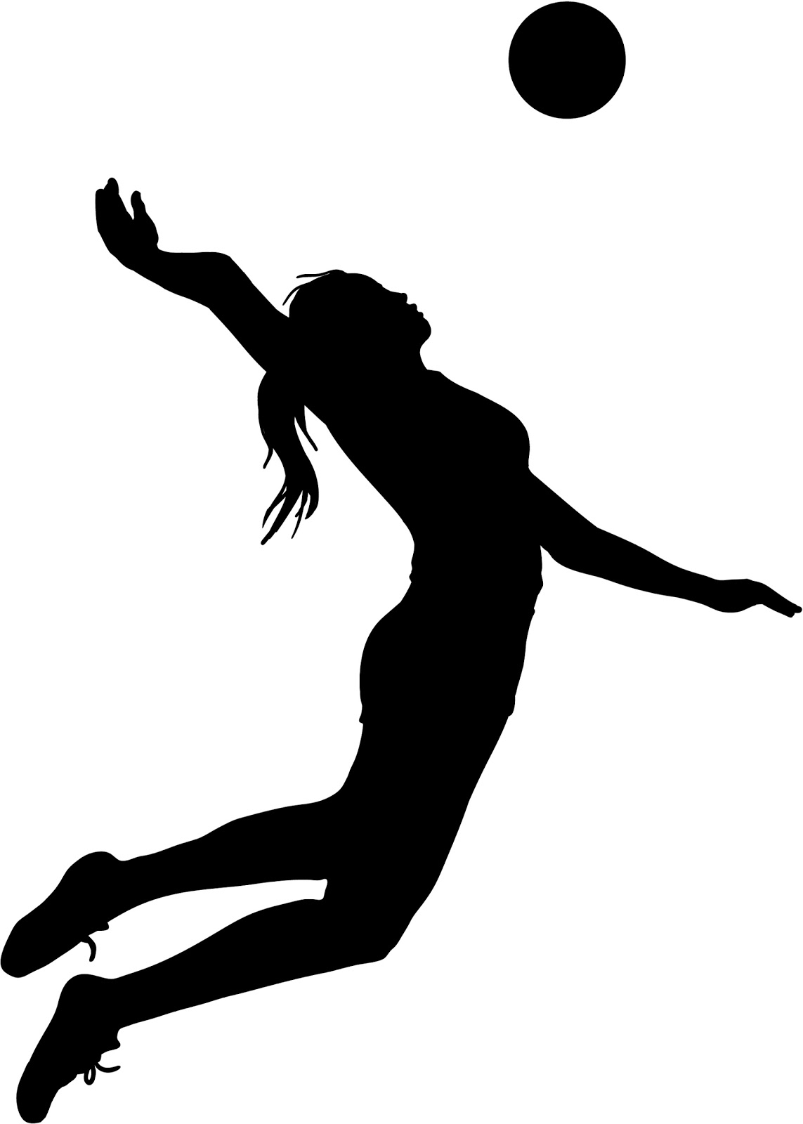 1143x1600 Volleyball Player Clipart Black And White