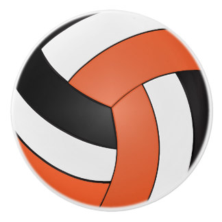 324x324 Black And Orange Volleyball Gifts On Zazzle