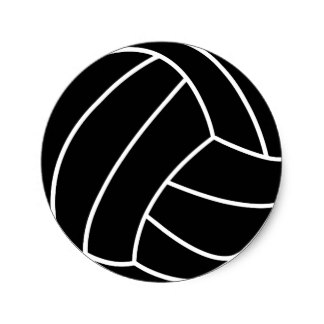 324x324 Black And White Volleyball Stickers Zazzle