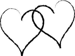 300x225 Heart Clip Art Black And White