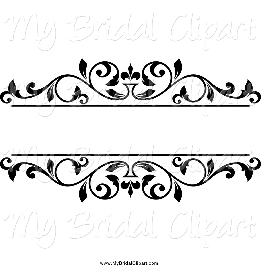 1024x1044 Bridal Clipart Of A Black And White Floral Frame With Text Space