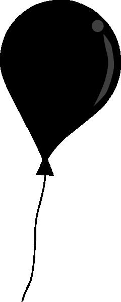 240x596 Black Balloon String Clip Art