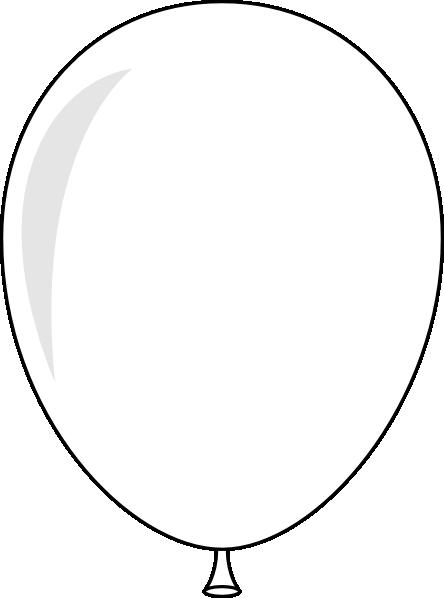 444x598 Black Balloons Clip Art