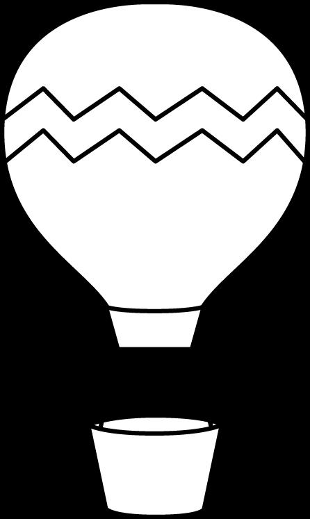 446x747 Black And White Striped Hot Air Balloon Clip Art