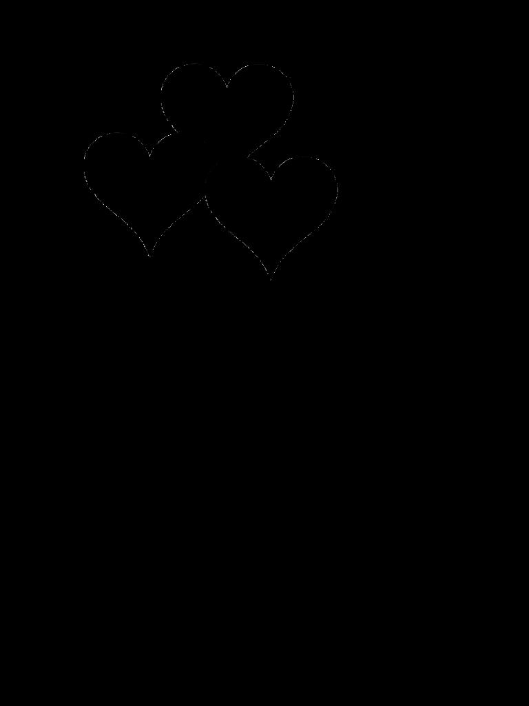 768x1024 Clip Art Black And White Heart Balloon Clipart