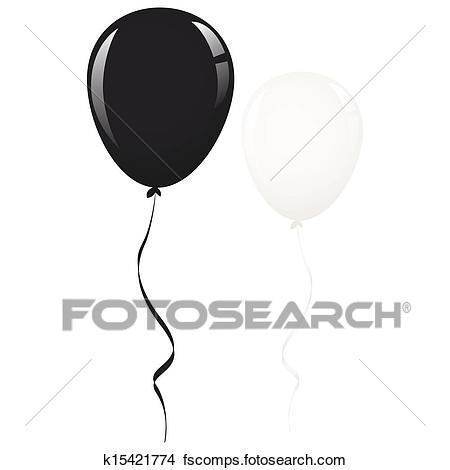 450x470 Drawings Of Black And White Balloon Ribbon K15421774