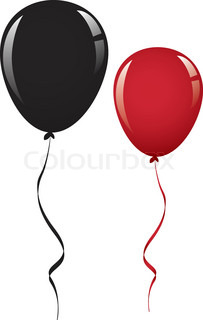 203x320 Balloon Clip Art Black And Red Cliparts