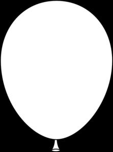 222x299 White Balloon Clip Art