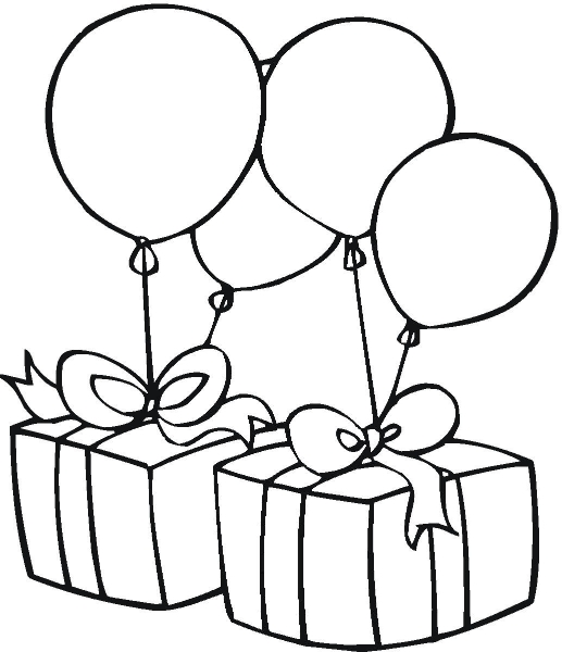 517x600 Balloons Clipart Black And White