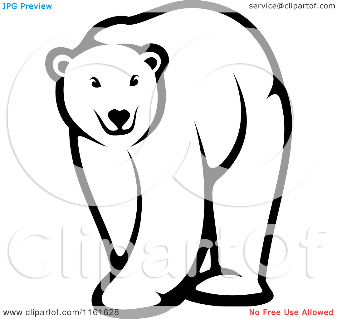 1080x1024 Black Bear Clipart Polar Bear