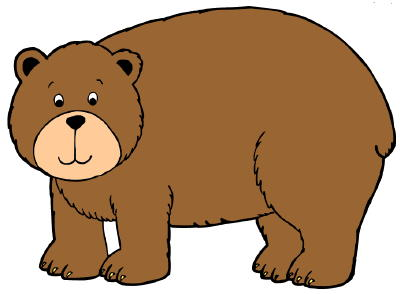 400x294 Standing Black Bear Drawing Free Clipart Images