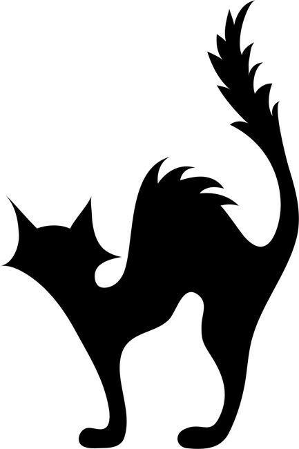 Black Cat Outline | Free download on ClipArtMag