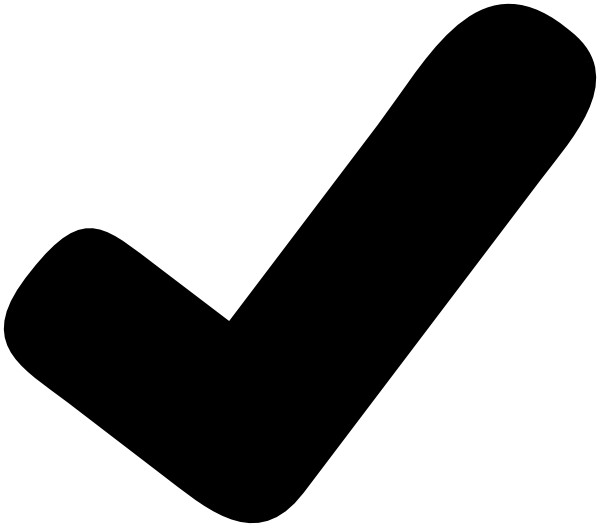 Black Check Mark Clipart