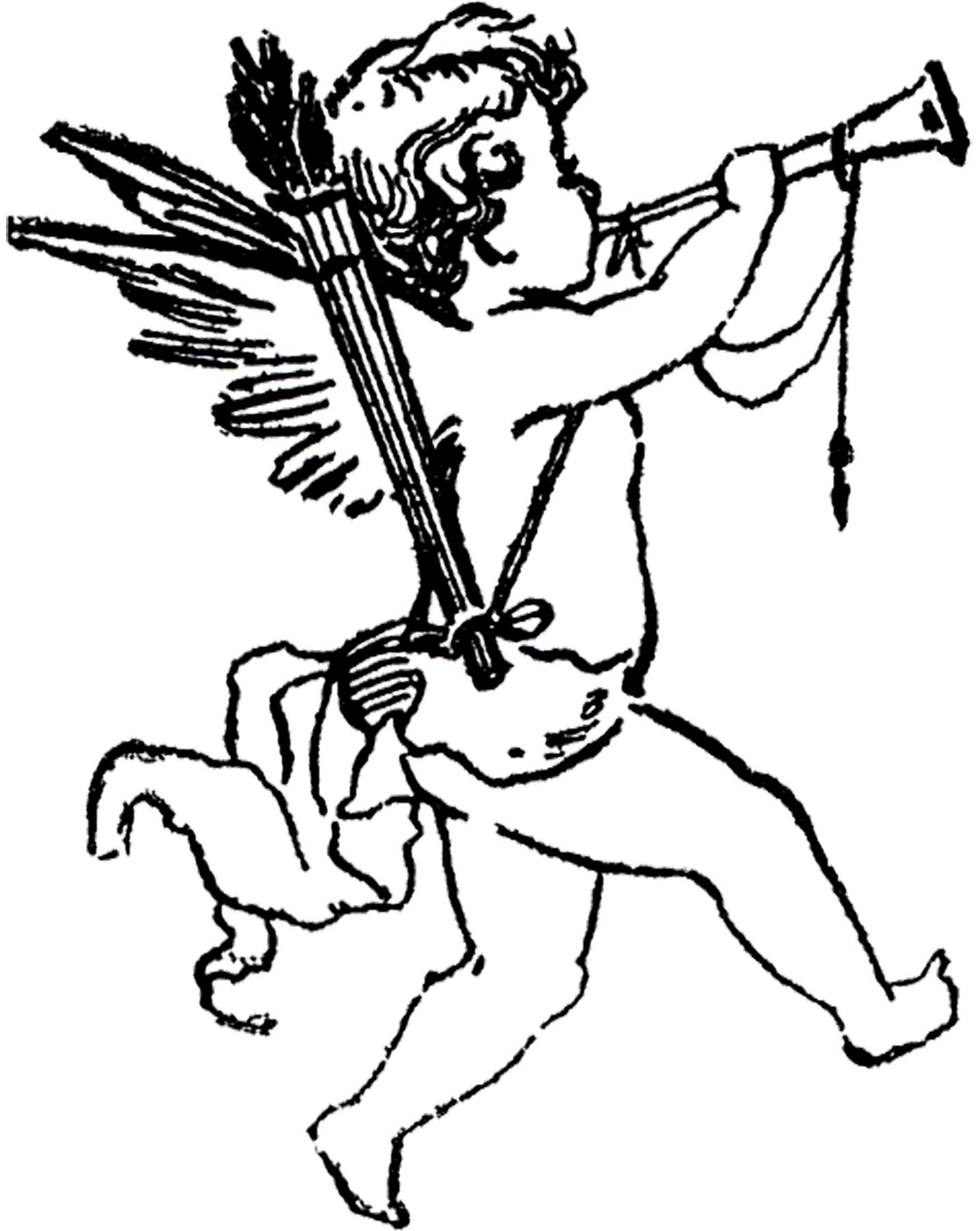 1433x1800 Cupid Clipart Antique