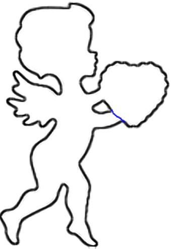 339x495 Valentine Cupid Scroll Saw Wood Pattern Applique