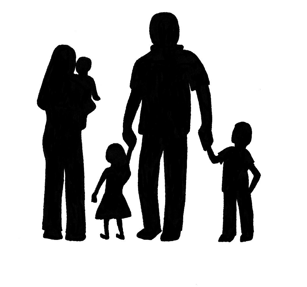 1056x987 Image Of Family Clipart Black And White