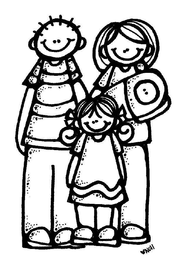 599x895 Best Family Clipart Black And White