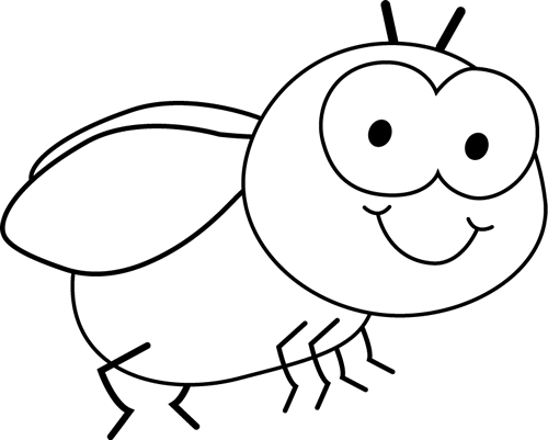 500x401 Black And White Fly Clip Art