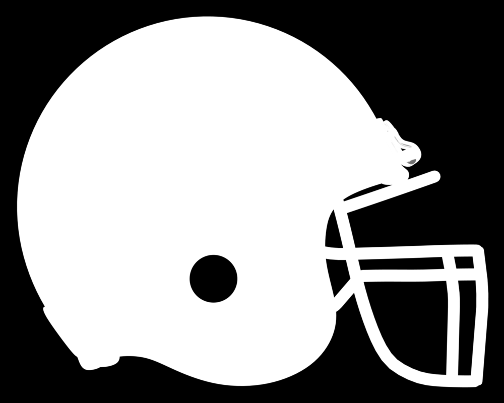 Black Football Helmet Clipart