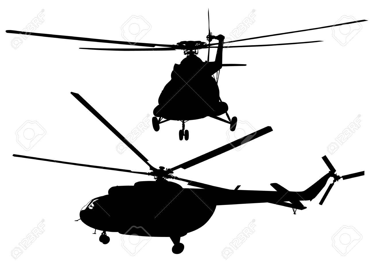 Black Hawk Helicopter Silhouette