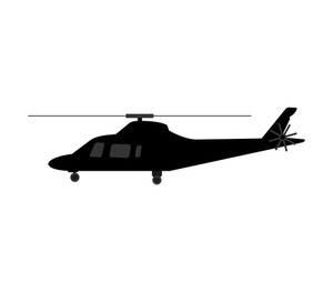 300x263 Helicopter Silhouette Royalty Free Stock Image