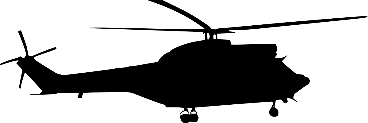 1200x403 9 Helicopter Silhouette Side View (Png Transparent)