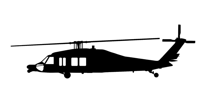 1500x750 Sikorsky Blackhawk Mh 60 Helicopter Vinyl Decal V3