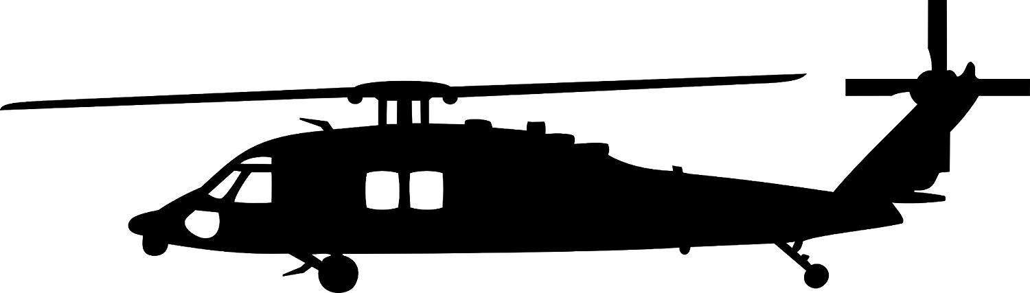 1500x427 Sikorsky Blackhawk Mh 60 Helicopter Vinyl Decal