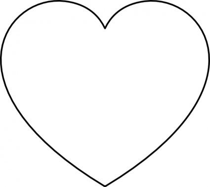 425x378 Heart Clip Art Black And White