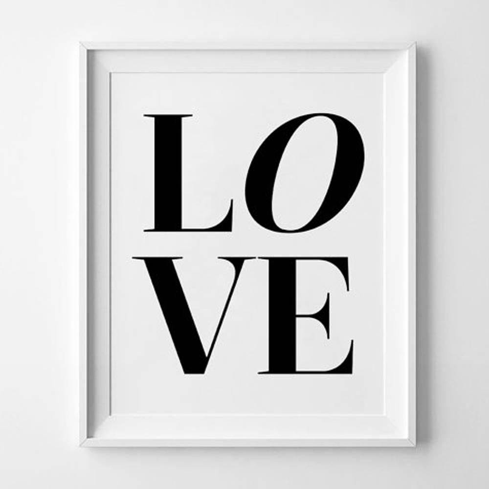 1000x1000 15 The Best Black Love Wall Art