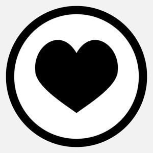 300x300 Love Black Heart Royalty Free Stock Image