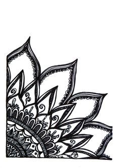 Black Mandala Cliparts