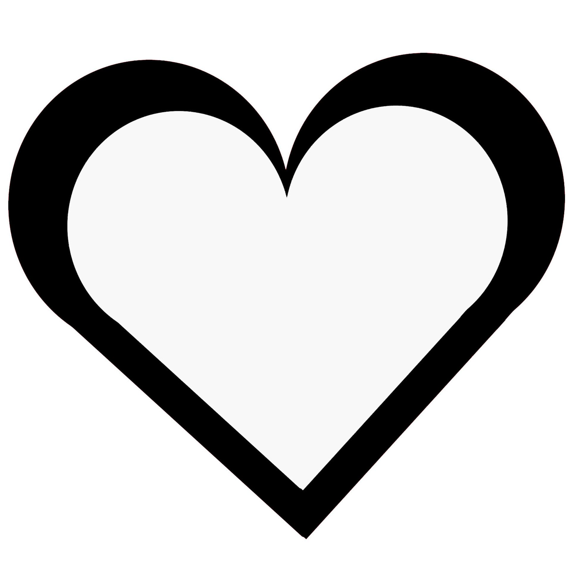 Black Outline Heart | Free download best Black Outline Heart