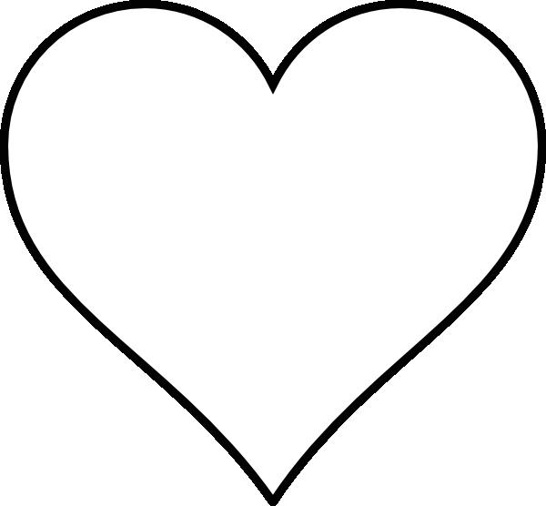 600x556 Heart Outline Black Outline Heart Clip Art