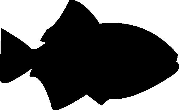 600x369 Fish Outline Black Filled Clip Art