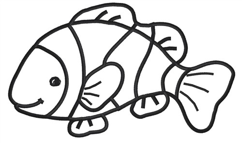 500x296 Fish Black And White Clown Fish Clip Art Black And White Free