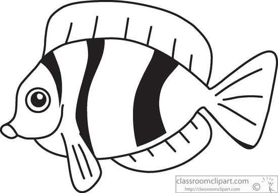 550x381 Fish Outline Clipart Black And White Clipart Panda