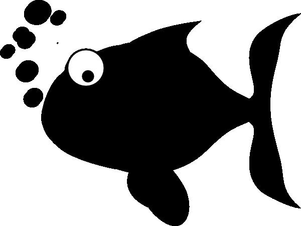 600x450 Black Fish Clip Art