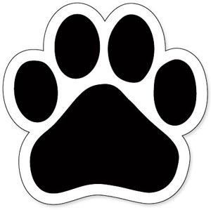 300x299 Dog Paw Prints Panther Paw Print Clip Art Clipart Locker