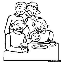 236x240 Grandparents Clipart Black And White