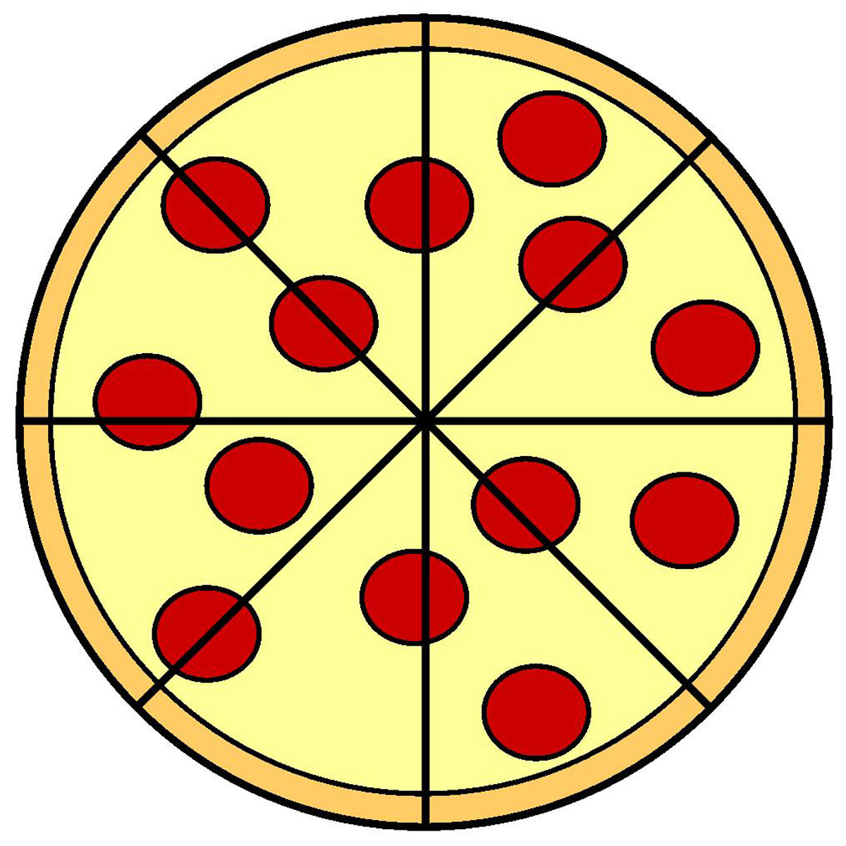 1200x1200 Pizza Clipart Black And White Free Images 4