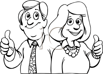 350x252 Clipart Black And White Father