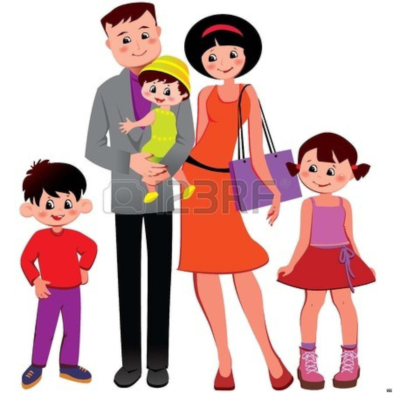 1350x1350 Happy Black Family Clipart