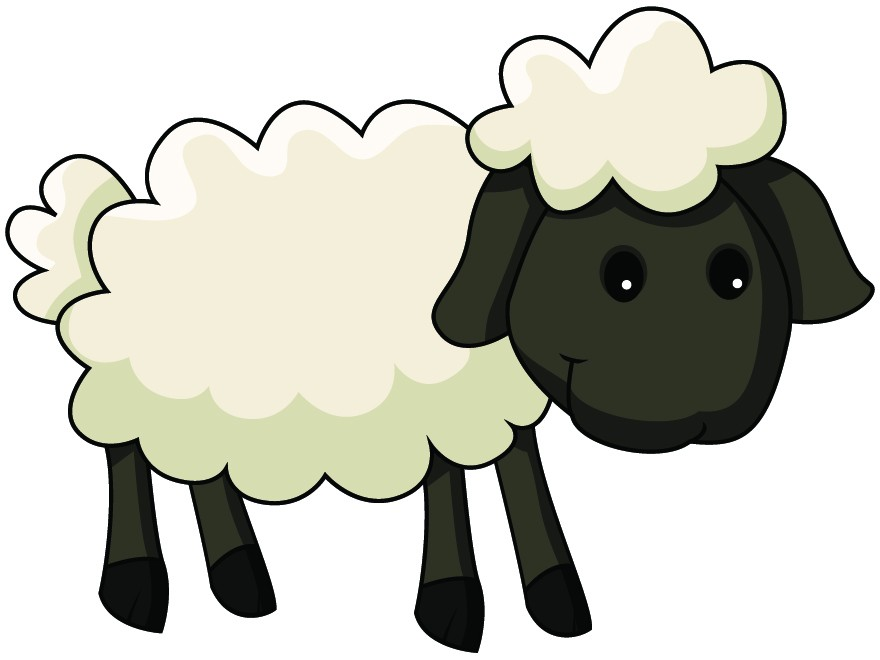 880x660 Cartoon Little Black Sheep Clipart