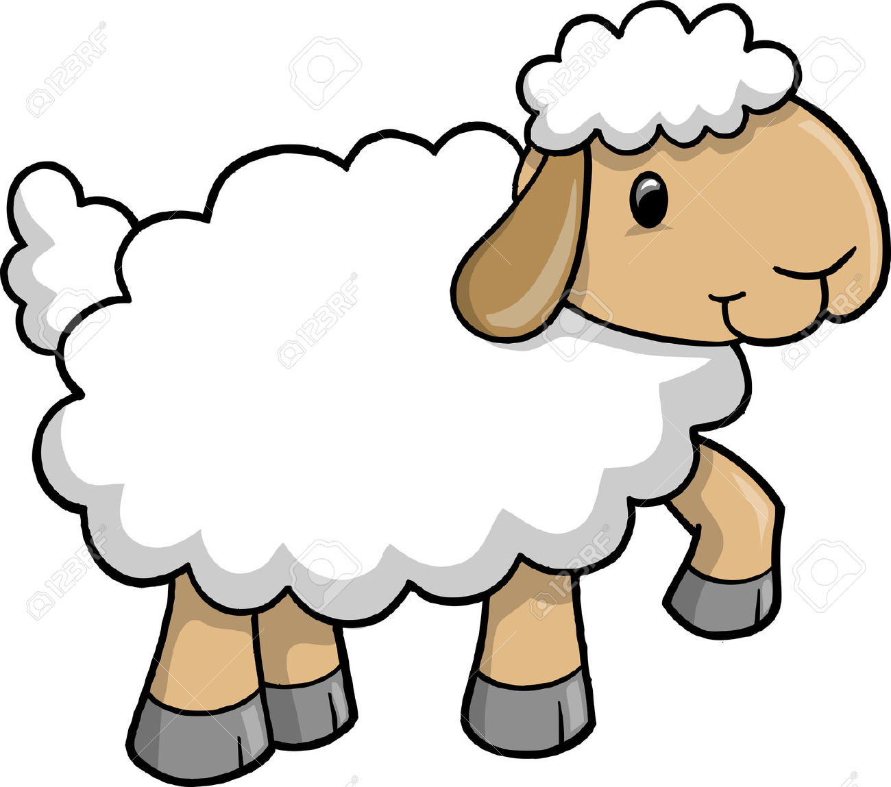 1300x1149 Clipart Sheep