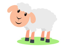 210x153 Clipart Sheep