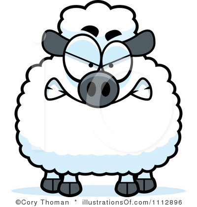 400x420 Lamb Clipart Angry