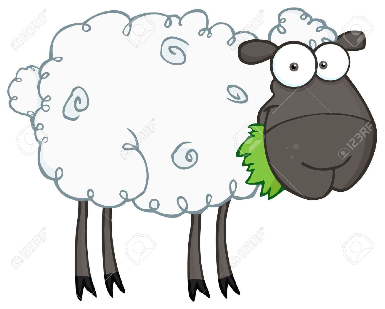 1300x1043 Sheep Clipart Grass