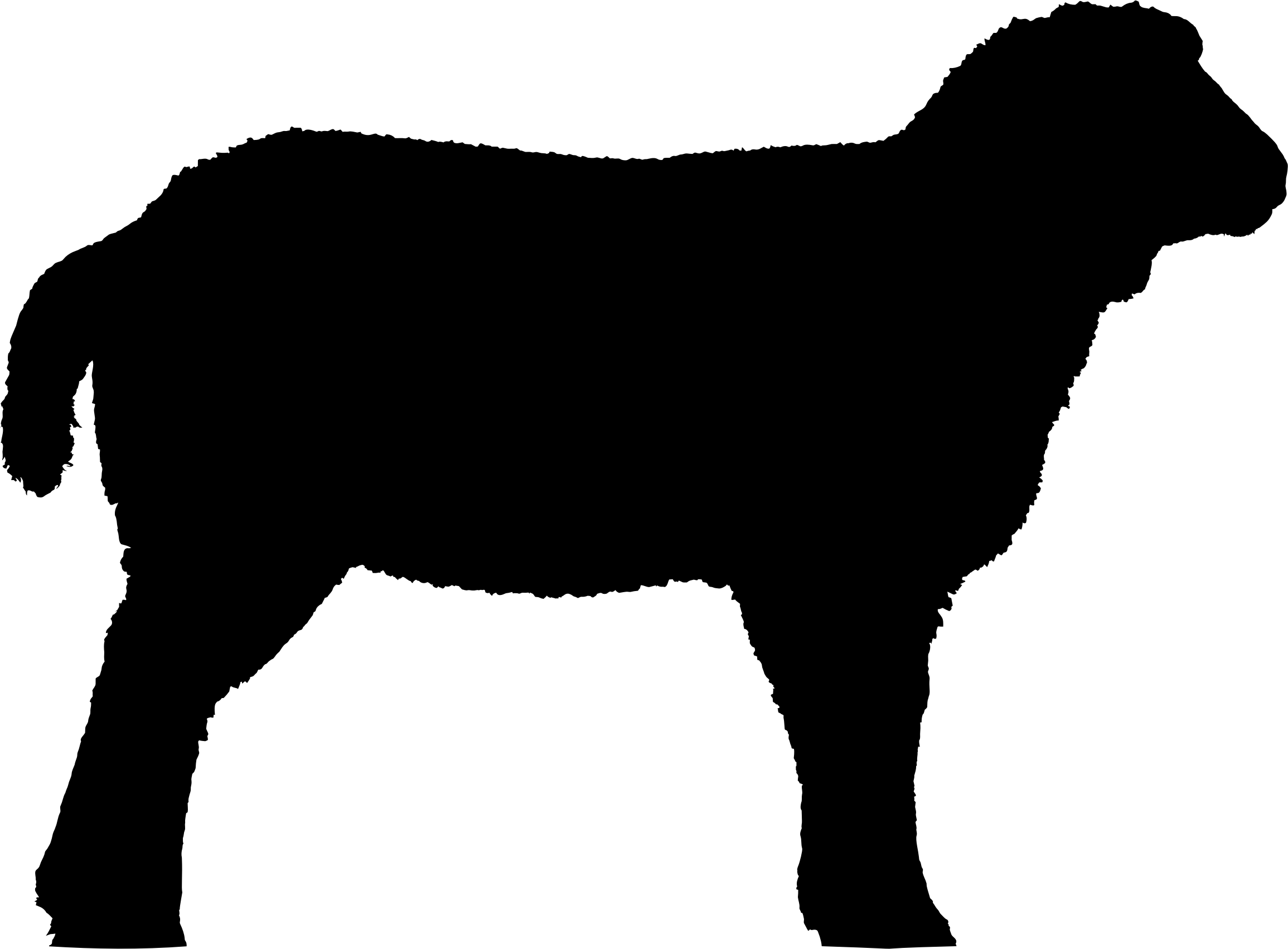 2310x1702 Lamb Clipart Silhouette
